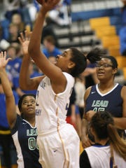 Clarksville Academy's Keisha Phillips puts up a shot
