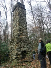 The massive chimney is about all that's left of Col. John Kerr Connally's lodge