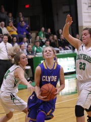 Clyde's Heidi Marshall can score in a variety of ways.