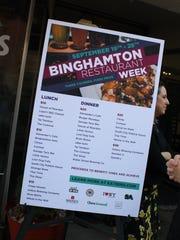 Binghamton Restaurant Week will feature 25 restaurants.