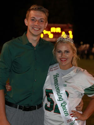 Jack Gleckler and Chloe Shanteau were crowned King and Queen at Oak Harbor's homecoming game against Vermillion on Friday.