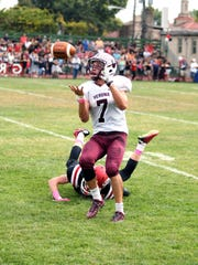 Verona senior CJ Lavery catches a 62-yard touchdown pass from Tom Sharkey.