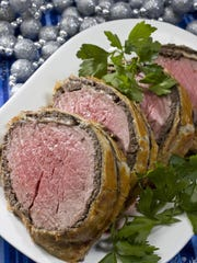 This version of beef Wellington, a classic dish for celebratory meals, uses a center-cut section of beef tenderloin.