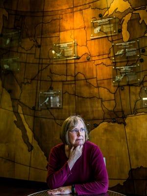 Author Michelle Caffrey at Corkscrew Swamp Sanctuary on Wednesday, Jan. 3, 2018.