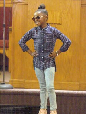 "Dazaiya Webb participates in a youth fashion show, part of the 2017 ""Youth Got Talent"" Black History Month celebration at Ebenezer Church of God in Christ in Fremont. The annual event is slated for Sunday."