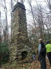 Col. John Kerr Connally's lodge once surrounded this massive chimney.