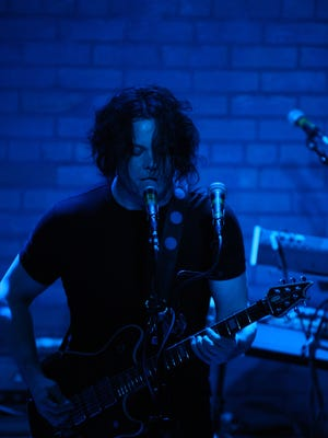 Jack White performs at Third Man Records in Detroit on April 18, 2018.