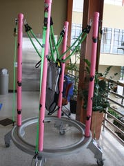 A modified jumperoo was created for Iva Healey, of