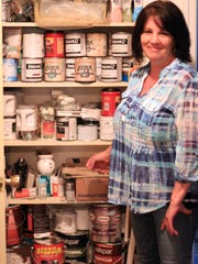 In their Powell-Halls home, the linen closet-turned-paints-and-primers