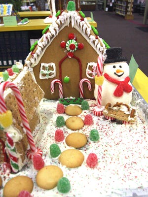 A gingerbread house submission is pictured during the 2017 Gingerbread House Contest, sponsored by the Adrian District Library. This year's gingerbread crafting contest is still on, and is taking place this week, with submissions due today, Wednesday, Dec. 2 and Thursday, Dec. 3. Judging will take place Friday, Dec. 4.