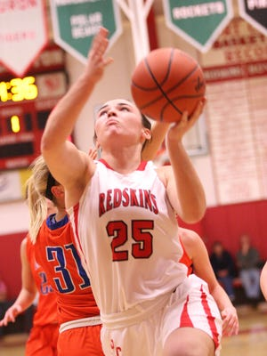 Port Clinton's Emily Ashley puts up a shot against Edison on Tuesday.