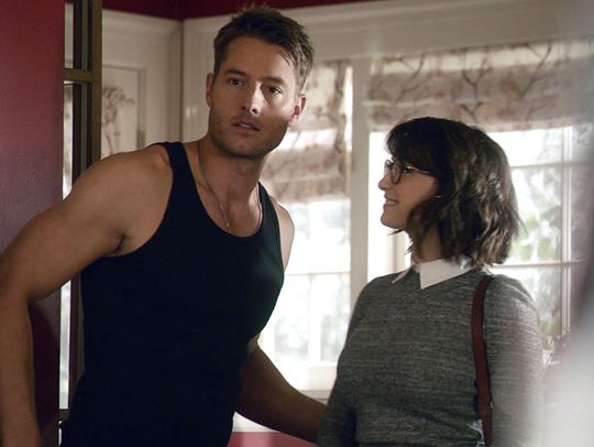 "Justin Hartley and Milana Vayntrub in ""This Is Us."""