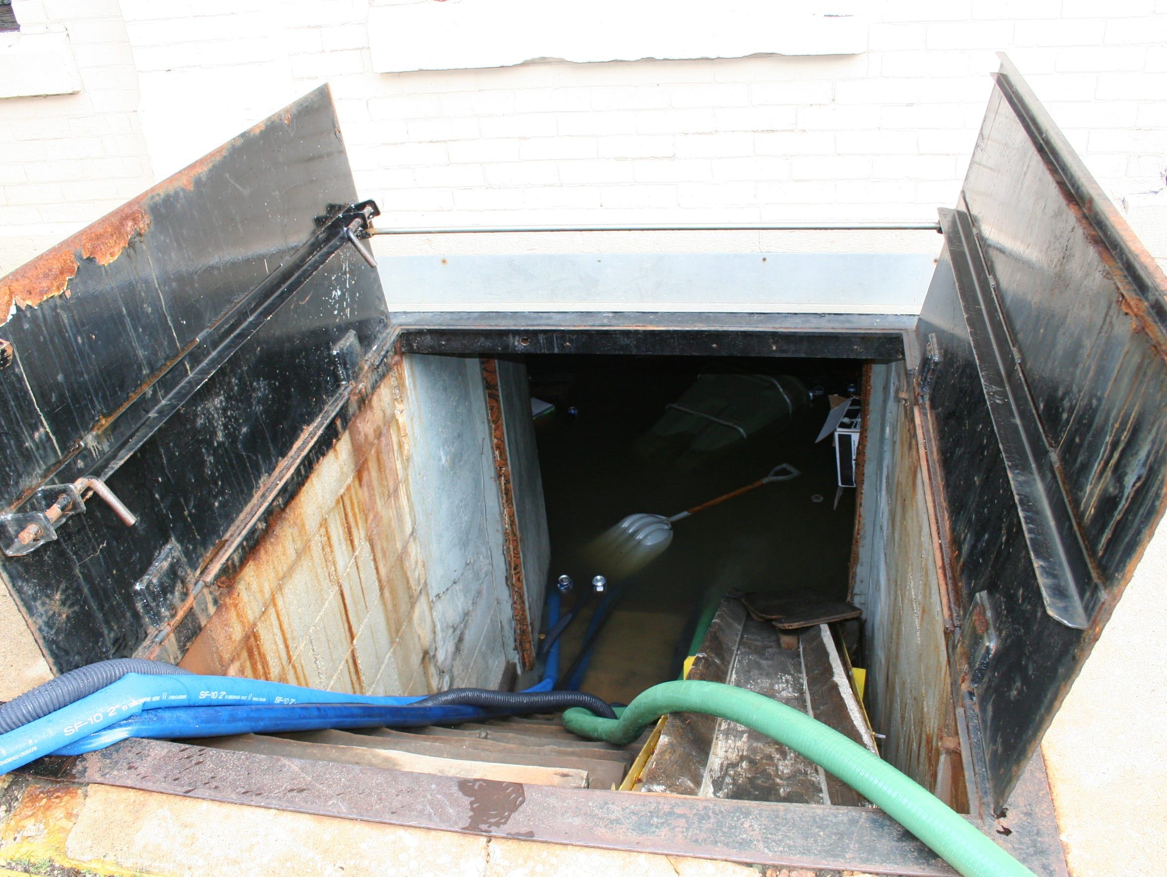 Water fills the basement of Beernuts, 183 S. Main St.