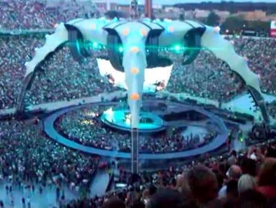 Irish rockers U2 performed at Michigan State University's