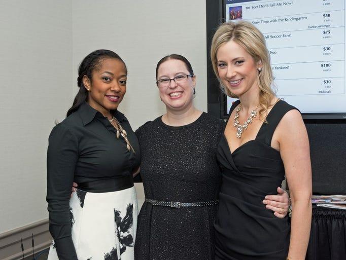Hanifa Barnes with Charity Ferreira and Karen San Giacomo.