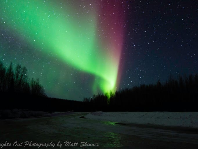 A view of Aurora Borealis taken from north of Fairbanks