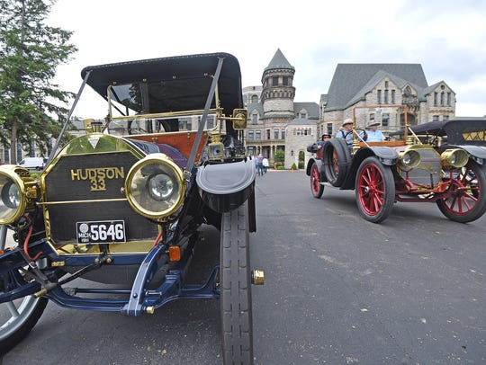 Members of the Brass and Gas Car Club spent part of