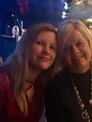 Layne Chesney (left) with her mother Leigh Chesney.