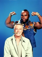 """A file photo of George Peppard and Mr. T in the ABC series The A Team. In a 1985 two-part episode called """"Judgment Day,"""" the """"crack commando unit"""" is trying to find the kidnapped daughter of Judge Mordente and track mobsters to Italy. The gang ends up on a cruise ship in the Mediterranean where several cast members pose as members of the crew."""