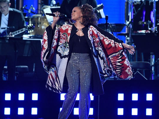 Andra Day croons Night Fever during a Bee Gees tribute.