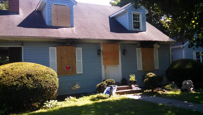 This house at 1311 Sylvia St., Salisbury, burned Friday morning. Salisbury firefighters rescued a 2-year-old through a second-floor window.