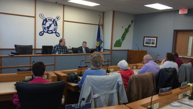 The Northeast Wisconsin Family Care District board holds its final meeting Monday in the Door County Government Center in Sturgeon Bay.