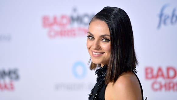 Mila Kunis attends the premiere of 'A Bad Moms Christmas'
