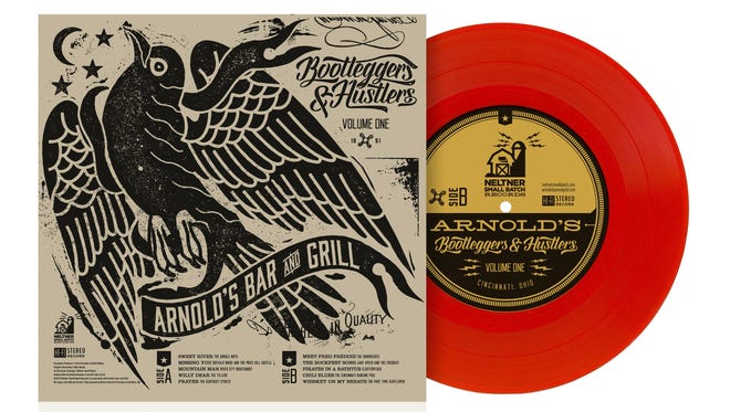 "Arnold's and Neltner Small Batch are releasing ""Arnold's Bootleggers and Hustlers,"" a limited-edition record featuring 10 bands that have taken the stage at the Downtown bar and restaurant."