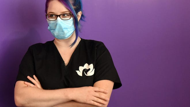 Brittney Cook has recently opened Transfurmations Dog Spa in Rochester, where she loves working with canines.