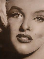 Portrait of actress Marilyn Monroe by Kirtland artist Rick Conrad.