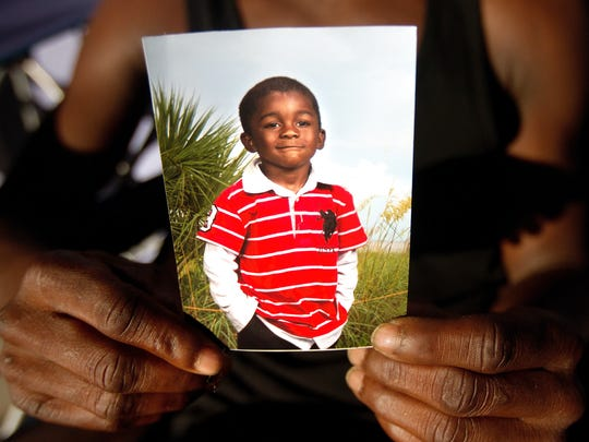 Andrew Faust, 5, was killed in October in a drive-by shooting in Dunbar.