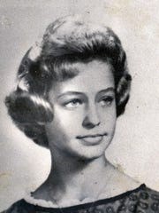 Farrah Fawcett, 8th grade photo 1961
