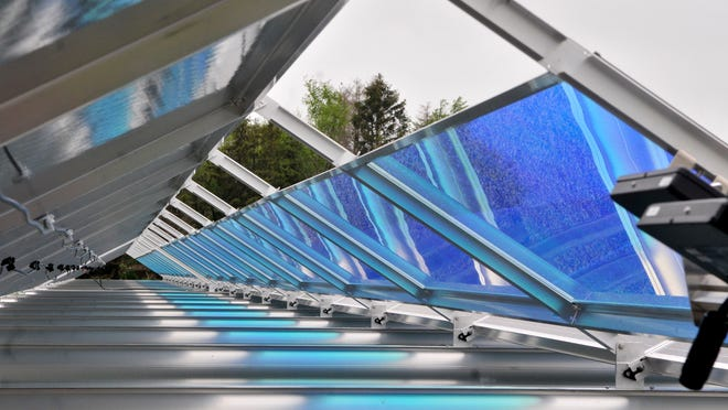 Stearns Electric Association customers can buy output from one of the 50 solar panels in an array at the company's site in St. Joseph.