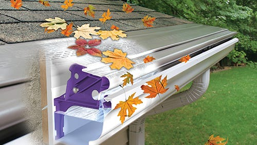 Using a gutter guard system, such as GutterMonster, is a proactive way to keep grime and leaves from getting in the gutters in the first place.
