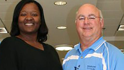 Sharon Summers (left) and Lee Boozer