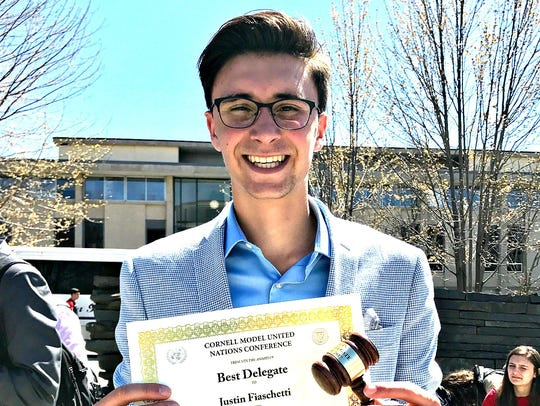 Delaware Valley High School student Justin Fiaschetti