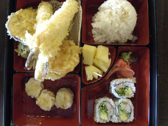 The tempura bento box at Tokyo Steakhouse in Ankeny