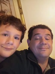 Christian Everidge (left) with his father Jason Everidge