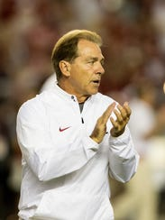 Alabama Crimson Tide head coach Nick Saban.