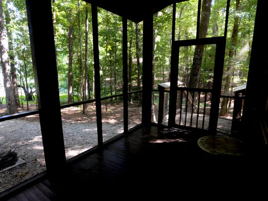The view from a cabin at North Toledo Bend Park.