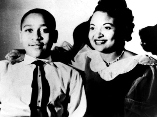This undated family handout photograph taken in Chicago, shows Mamie Till Mobley and her son, Emmett Till.