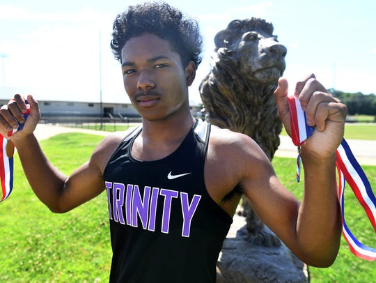 All-West Tennessee Boys Track Athlete of the Year Trinity Christian Academy's Kevin Davis