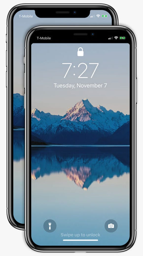 The Notch Remover app for the iPhone X.