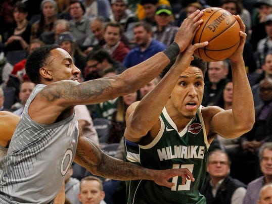 NBA: Milwaukee Bucks at Minnesota Timberwolves