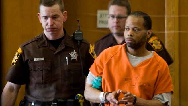 William D. Avery, who was convicted in a 1998 murder, enters Judge Rebecca Dallet's court in May 2010 where he learned he would be released from custody. New DNA evidence exonerated Avery and linked serial killer Walter Ellis to the killing.