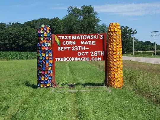 The owners of Trzebiatowski's Corn Maze, located at