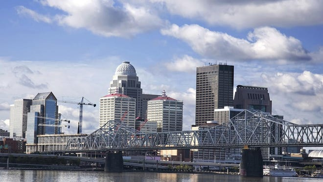 Skyline of Louisville, Ky.