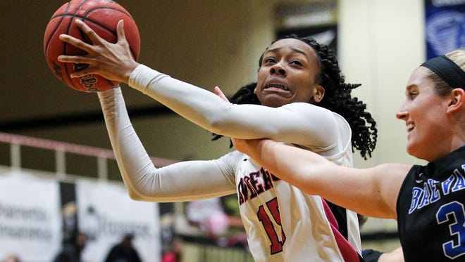 Anderson senior forward Jasmine Franklin scored 14 points in the loss at Columbus State.