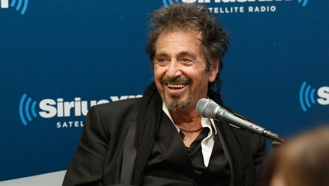 """Actor Al Pacino takes part in a SiriusXM Town Hall on Wednesday in New York City. He was on the show with director Barry Levinson; they worked together on """"The Humbling,"""" which opened Friday."""