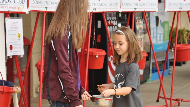 Organizations like the Salvation Army offer a variety of volunteer opportunities throughout the month of December.